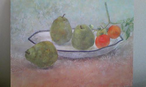 洋梨とトマト